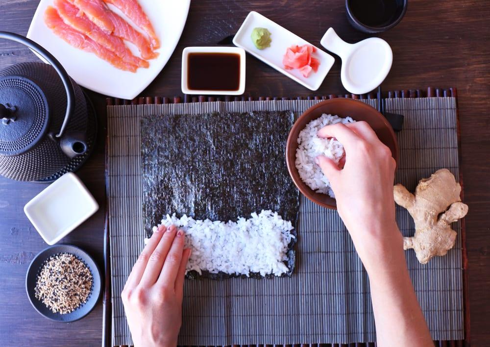 sushi reis kochen im reiskocher
