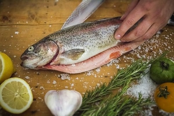 Fisch filetieren - Schnitt am Rücken - Entdeckermagazin Miomente