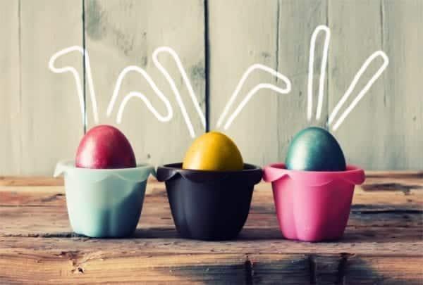 Bunte Eier für Ostern