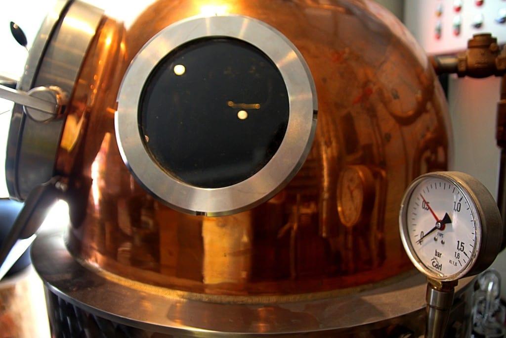 Brennblase einer Destille