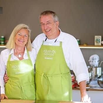 Das Team der Olivenöl-Kochschule Olio Piceno Heidi Rauch und Michael-A. Konitzer –Olivenöl-Kurse in München