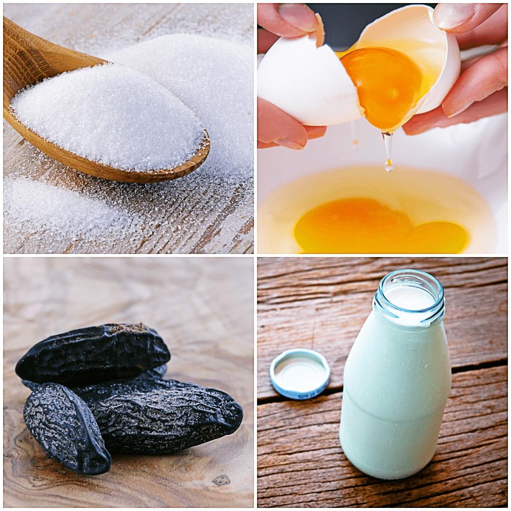 Rezept für Tonkabohnen-Creme-Brulee Zutaten
