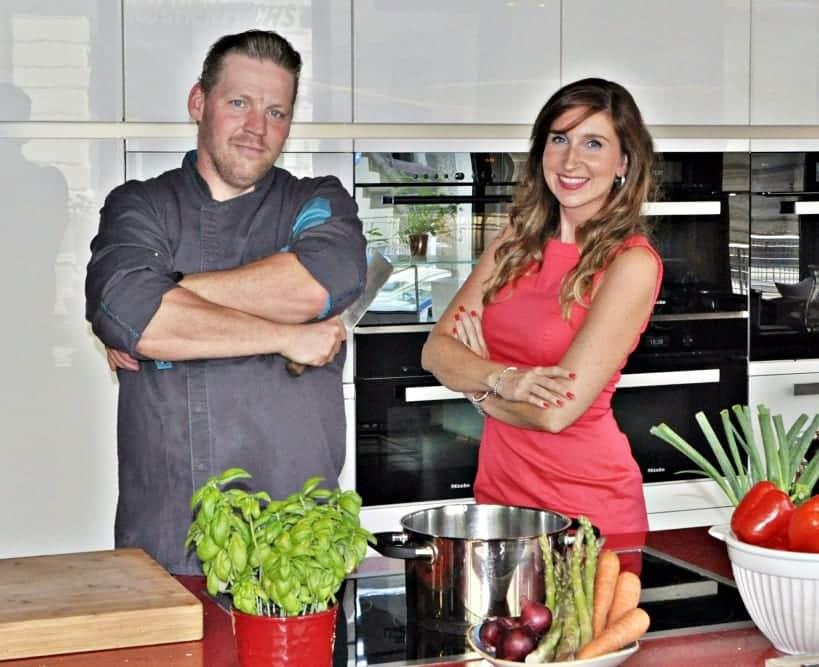 Eventmanagerin Katja Erler und Küchenchef Patrick Frensch