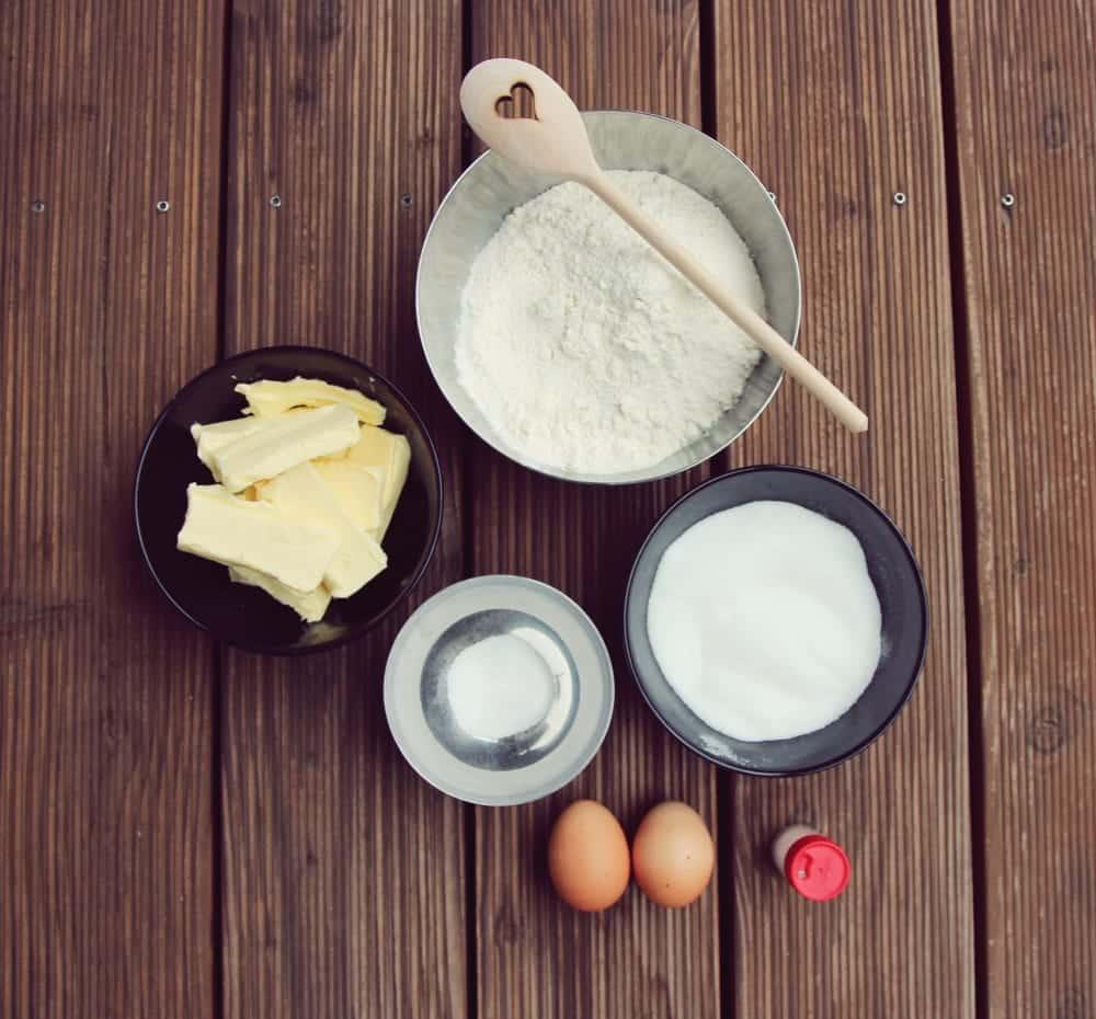 Weihnachtsrezepte: Zutaten für Butterplätzchen