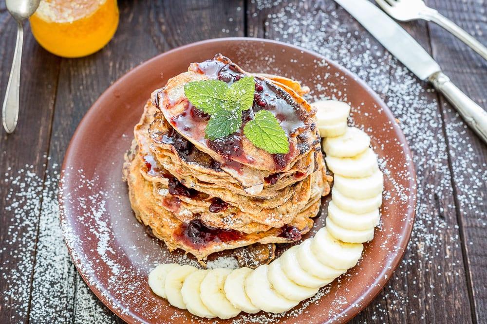 Paleo-Rezept: Low-Carb-Pancakes mit Bananen