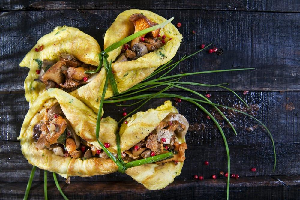 vegetarisches Weihnachts-Menü Entdeckermagazin Miomente: Omelett mit Pilzfüllung