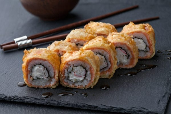 Inari-Sushi - Sushisorten - in Tempura frittiertes Sushi