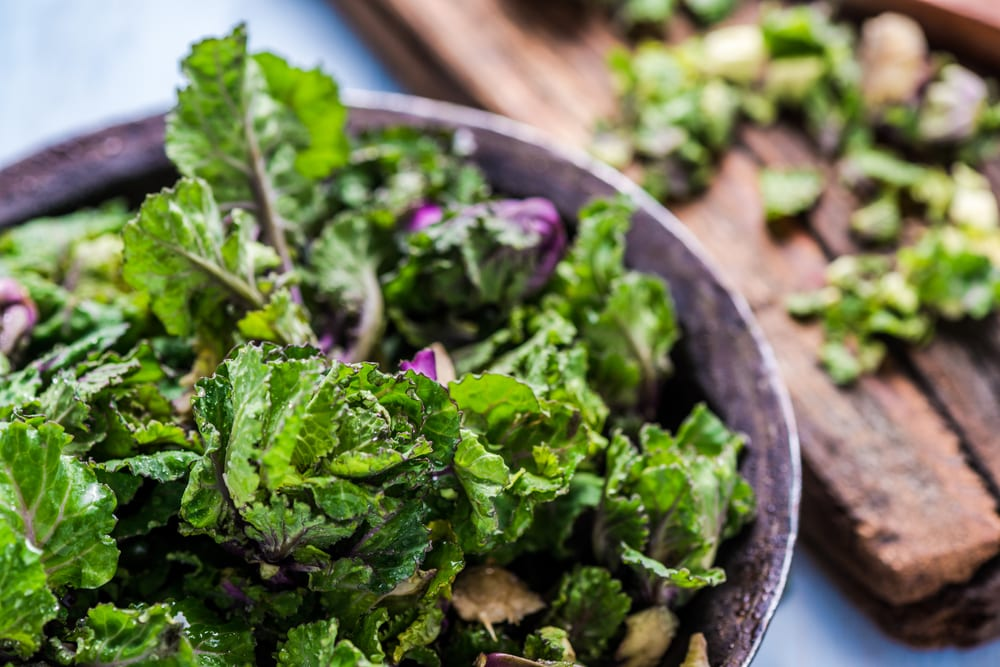 Rezept Flower Sprout Salat mit Brot und Speck