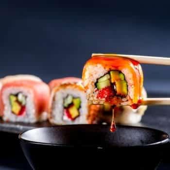 Sojasauce für Sushi