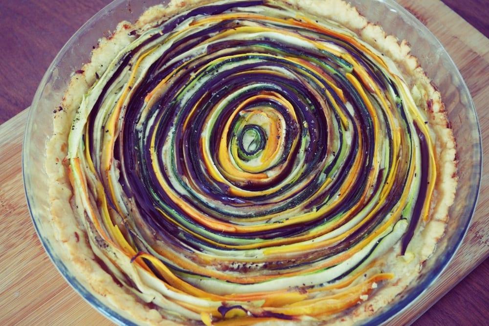 Oster-Highlights - Rezept für eine Gemüse Spiral Tarte | Miomente Entdeckermagazin