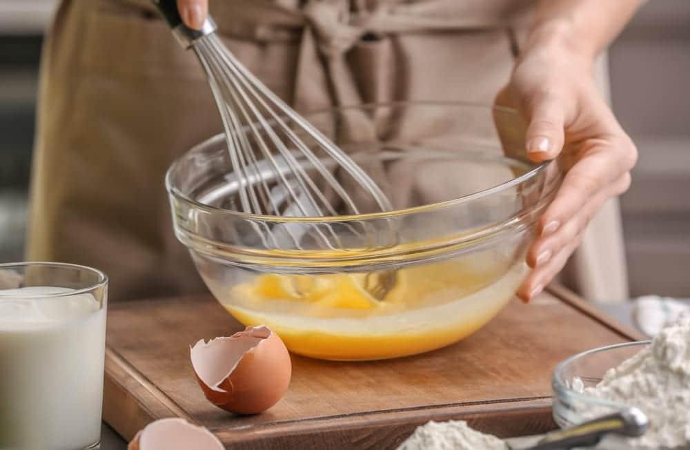 Eier verrühren