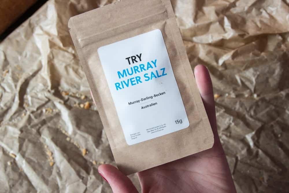 1. Salz: Murray River Salz. Das feine Natursalz stammt aus einer Sole unterhalb des Flusses Murray River.