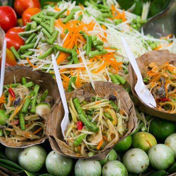 Papayasalt - typischer Thai-Streefood