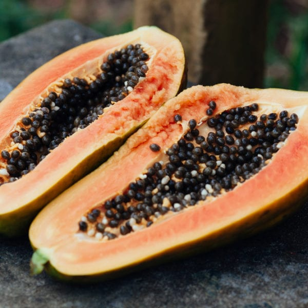 reife Papaya ist ungeeignet für Papayasalat