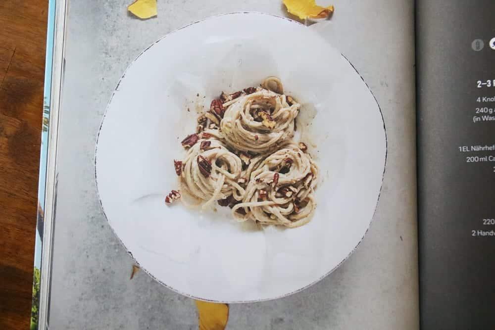 Rezept: Spaghetti Alfredo mit Artischocken aus California Cuisine im Entdeckermagazin Miomente