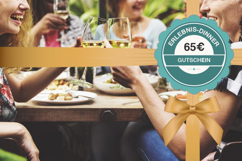 Gutschein für ein Erlebnis-Dinner 65€