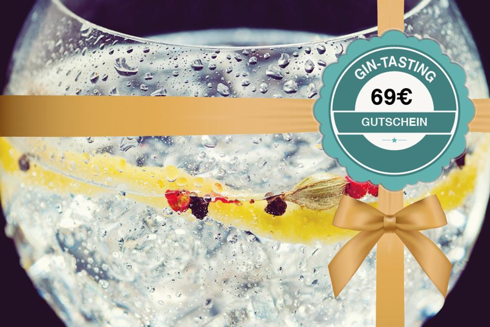 Gutschein für ein Gin-Tasting 69€