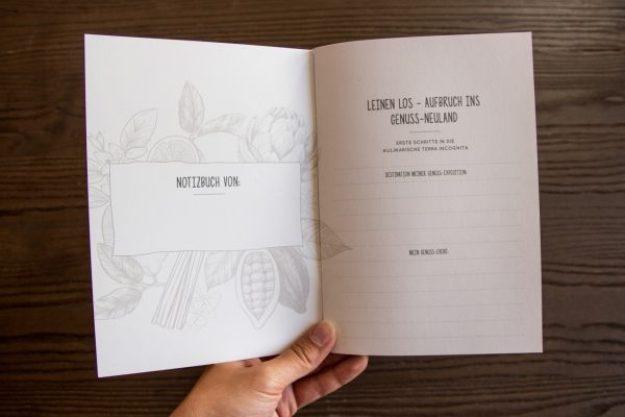 Erlebnis Geschenkgutschein 75 € –Notizbuch für Entdecker