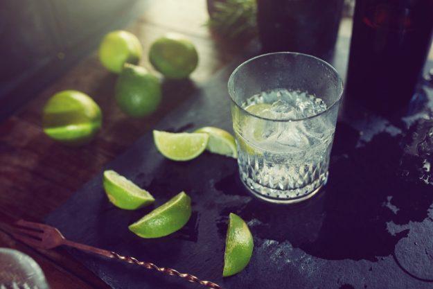 Gin-Tasting Köln –Gin mit Limettenspalten