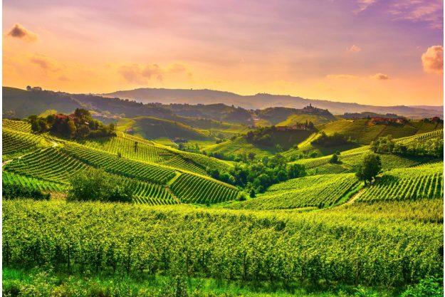 virtuelle Reise ins Piemont Landschaft im Piemont