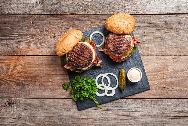 Burger-Kochkurs Frankfurt – Burger von oben