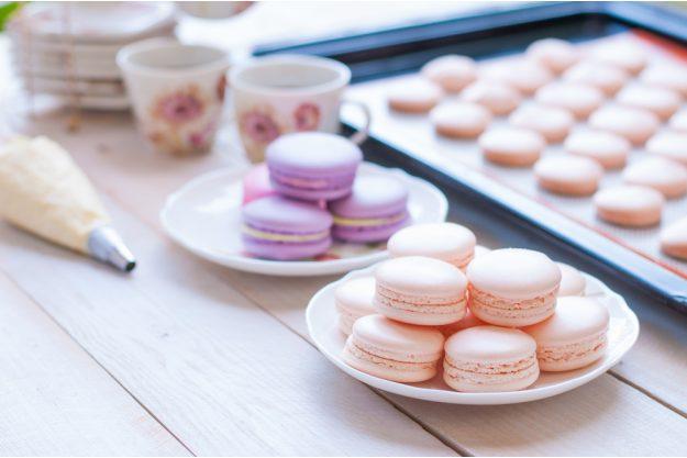 Macarons-Backkurs Frankfurt – rosa Macarons