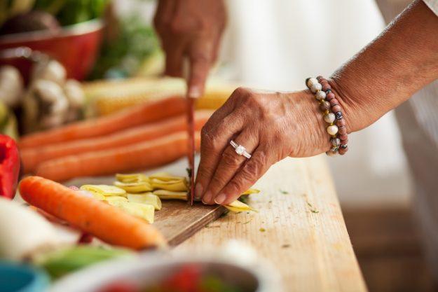 Persischer Kochkurs Frankfurt – Gemüse schneiden