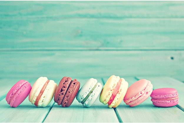 Backkurs at Home bunte Macarons