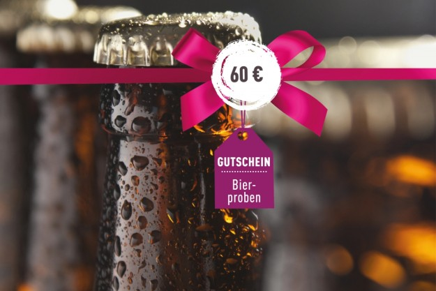 Geschenkgutschein Bierprobe – für eine Probe im Wert von 60 Euro