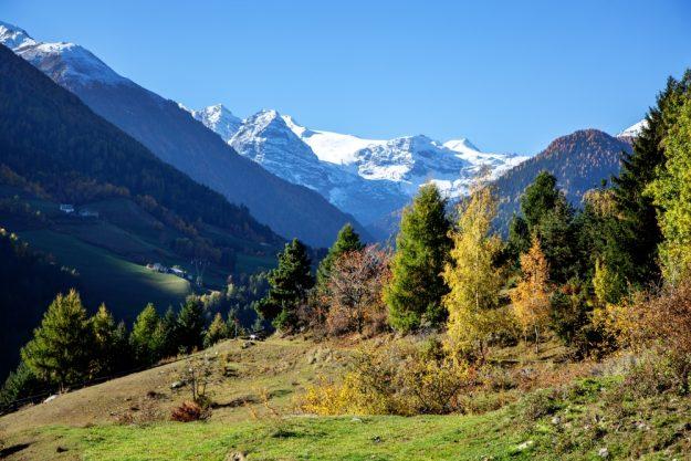 virtuelle Reise Südtirol Bergansicht