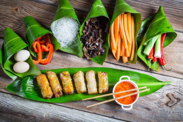 Thai-Kochkurs Senden - frische Frühlingsrollen