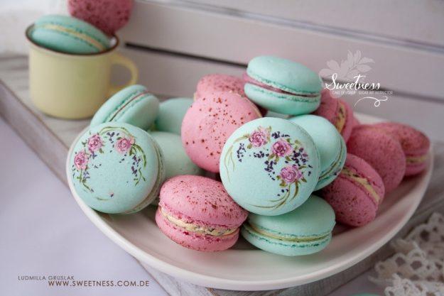Macarons-Backkurs Merzen – Macarons mit Blumen