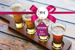 Gutschein für Bierprobe Gutschein für Bierprobe 99€