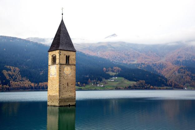 virtuelle Reise Südtirol versunkene Kirche