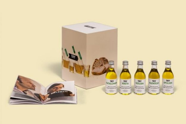 Olivenöl-Tasting at Home – Box mit Tastingflaschen