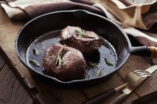Fleisch-Kochkurs Heidelberg – Beef Steak in Pfanne