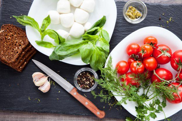 Mediterraner Kochkurs Heidelberg – Mozzarella und Tomaten