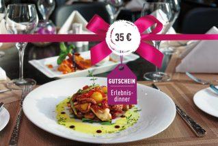 Gutschein für ein Erlebnis-Dinner Gutschein für ein Erlebnis-Dinner 35€