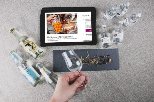 Virtuelle Brennereiführung mit Gin-Tasting zu Hause – Geliefertes Paket