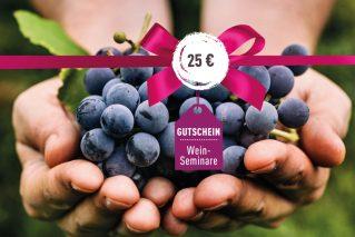 Weinseminar-Gutschein Weinseminar-Gutschein 25€