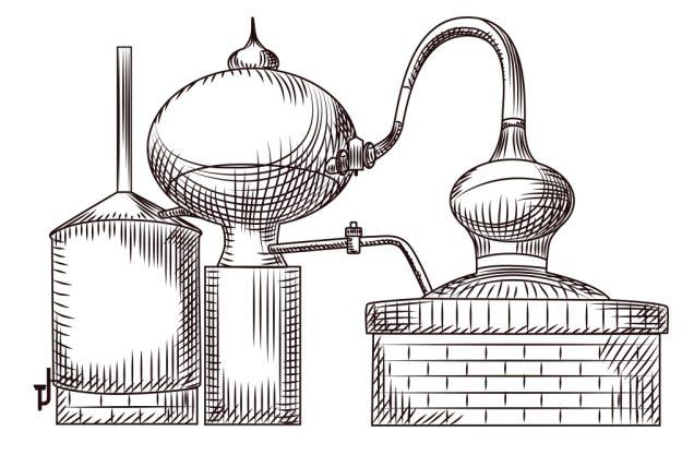 Gin-Tasting-AT-Home-Destillationszeichnung