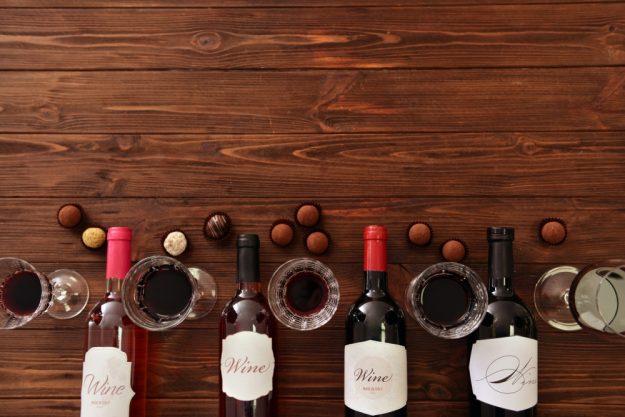 Box für online Events Wein Schokoladen-Verkostung