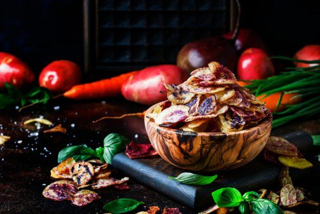 Vegetarischer Kochkurs Essen – Gemüse-Chips