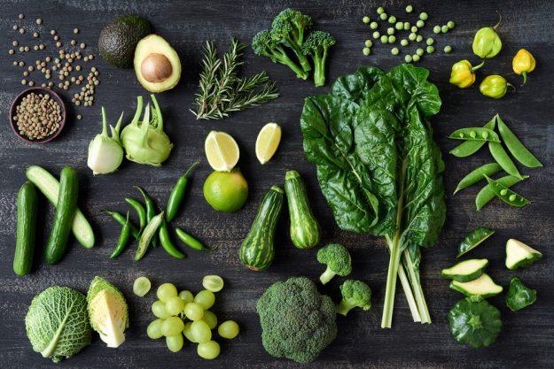 Vegetarischer Kochkurs Essen – grünes Gemüse