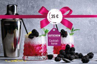 Cocktailkurs-Gutschein Cocktailkurs-Gutschein 35€