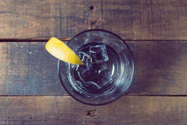 Gutschein Gin-Tasting – Gin Tonic mit Zitrone und Eiswürfeln