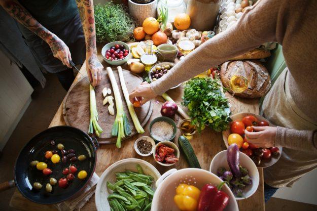 Vegetarischer Kochkurs Schwerte – Gemüse auf dem Tisch