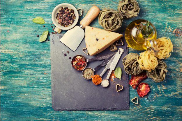 Firmenfeier mit Weinseminar in Ludwigsburg – Pasta mit Kaese, Gewuerzen und Oel