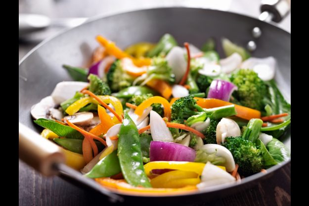 Thai-Kochkurs Stuttgart - Wok Gemüse
