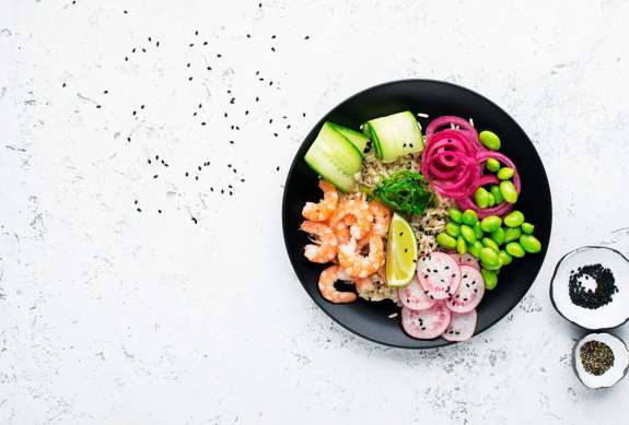 Clean Eating-Kochkurs Berlin – Bowl mit Shrimps